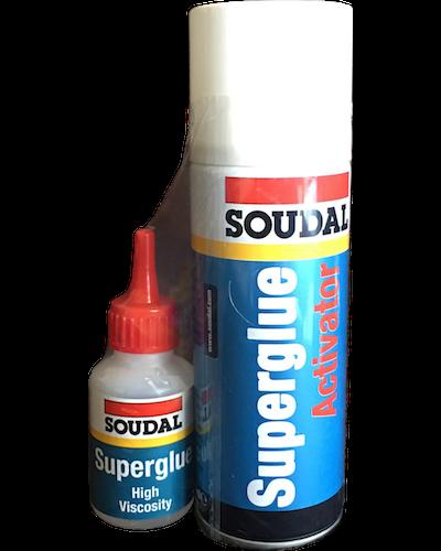 Soudal Superglue Activator and Glue Kit
